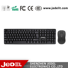 Cheapest hot selling high quality 2.4Ghz USB wireless keyboard mouse combo for computer ,Smart TV.
