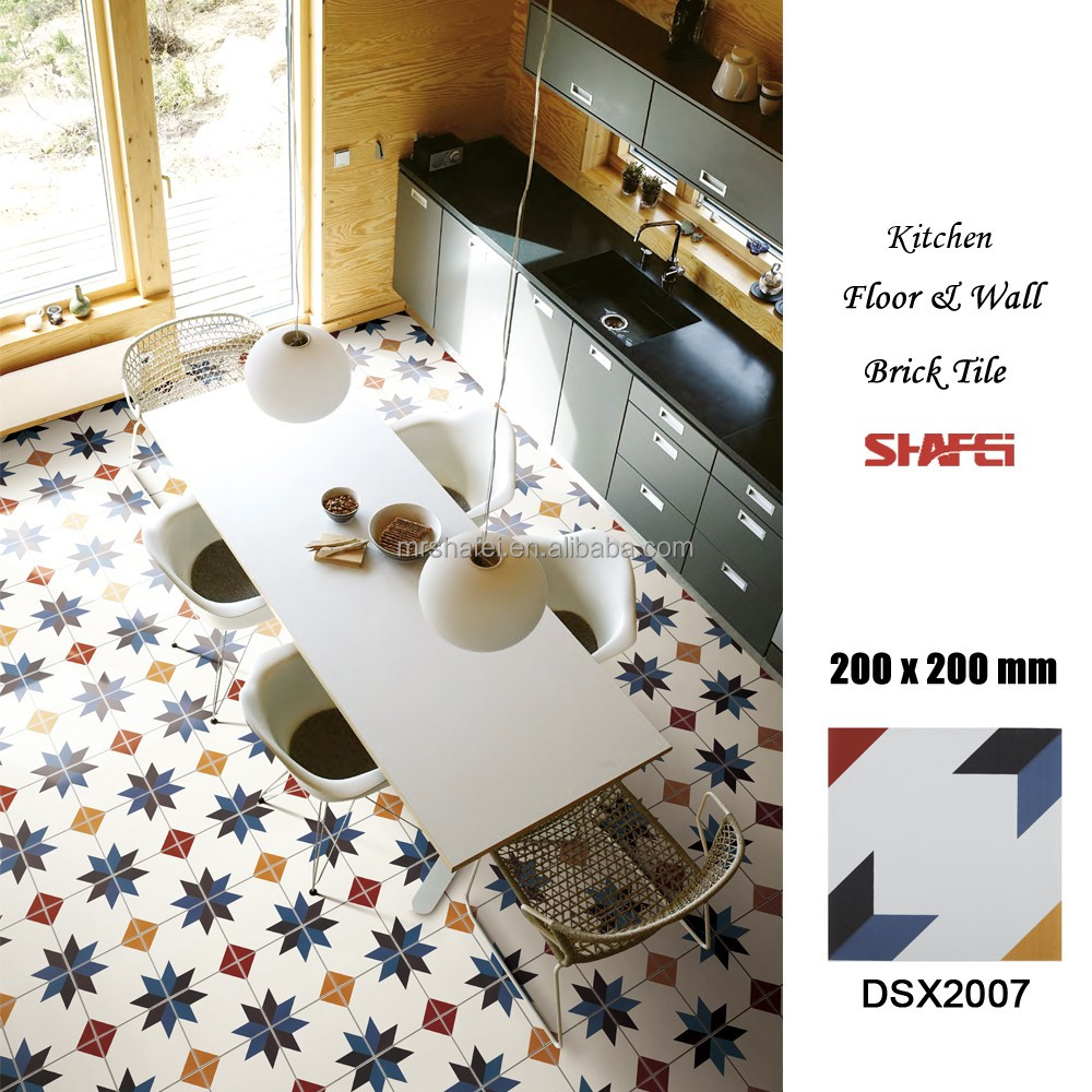 Kitchen floor ceramic tile