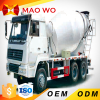 China 8 cubic meters used concrete mixer truck with pump