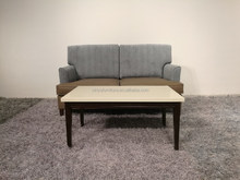 hotel fireproof Pu and fabric sofa with marble coffee table XYN5359