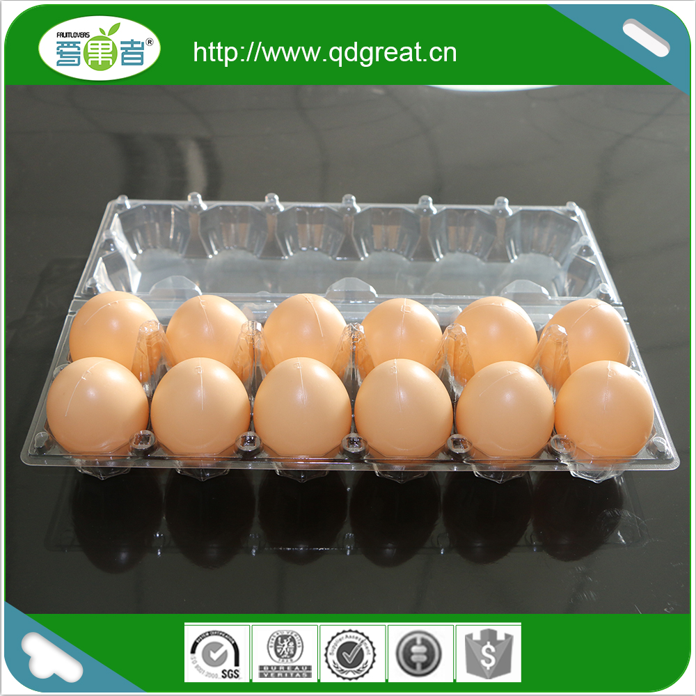 Good Quality New Designs Clamshell Plastic Chicken Egg Box Tray
