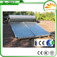 electrical heating element pressurized solar geyser solar water heater for raining