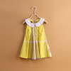 Cowboy baby dress children long frocks designs girls cotton 2015 frock design for baby gir