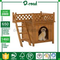 Cheapest Solid Wood Lean-To Roof Wooden Outdoor Dog Kennel