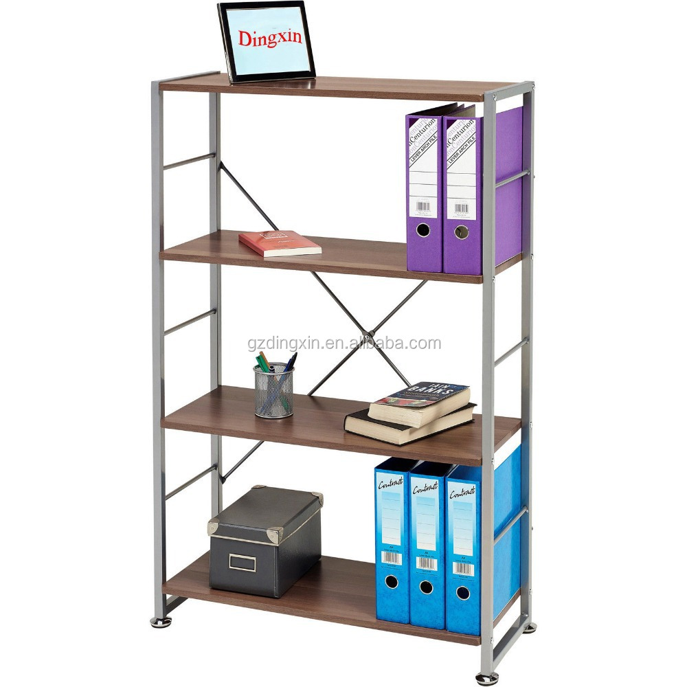 4 tier display shelf bookcase storage furniture for home office