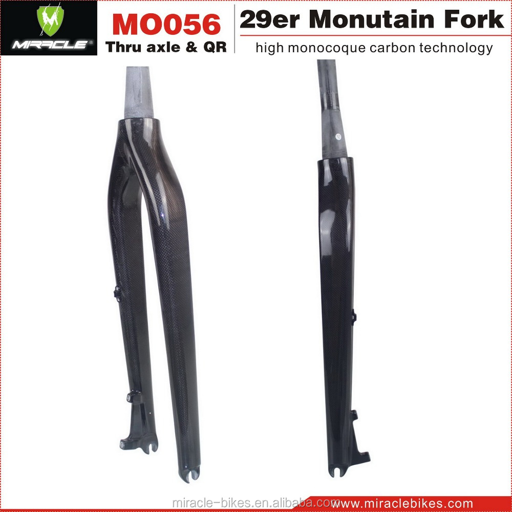 Mountain bikes fork 29er quick release dropout mtb hard carbon bicycle front suspension fork