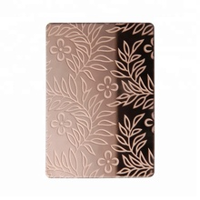 201 304 SS grade rose gold stainless steel etched decorative wall panel