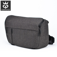 Heather black nylon shoulder digital canvas camera bag dslr