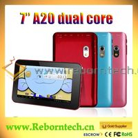 7 inch allwinner boxchip a20 dual core cortex-a7 a Tablet PC