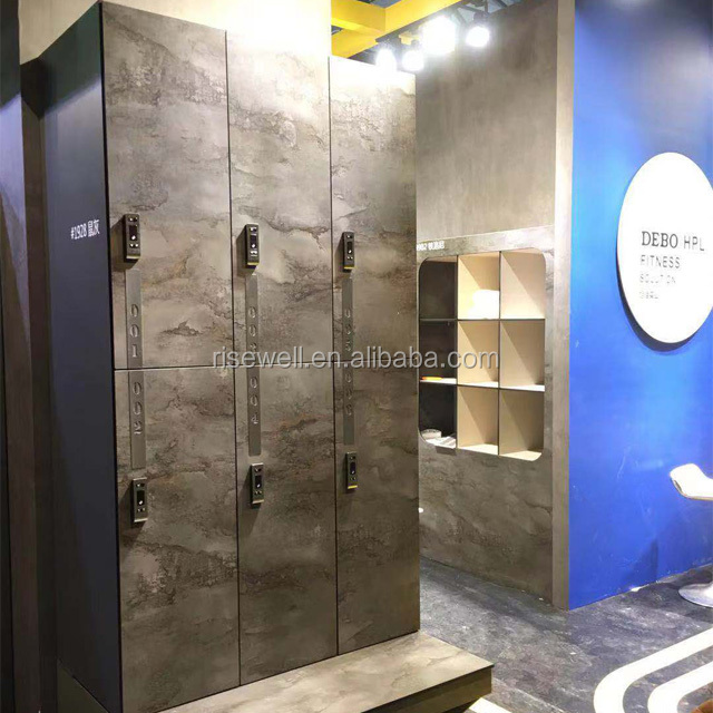 Debo new design SHANGHAI IWF Exhibition locker hpl parcel locker gym locker for sale