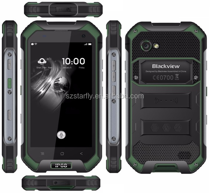 "Blackview BV6000 rugged phone NFC Waterproof Smartphone Android 6.0 MT6755 Octa Core 3GB 32GB 13MP 4.7"" rugged 4G LTE phone"