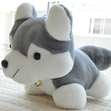 Husky lying dog plush toys dog cloth creative Valentine 's Day children' s gift special