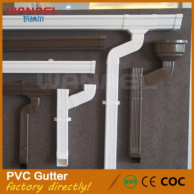 Wanael building material hot sell lowes PVC rain water gutters guard