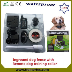 Rechargeable and waterproof electric fence for dog & 300 meters remote dog trainig collar