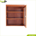 wooden wall mounted office cabinet for saving accessories