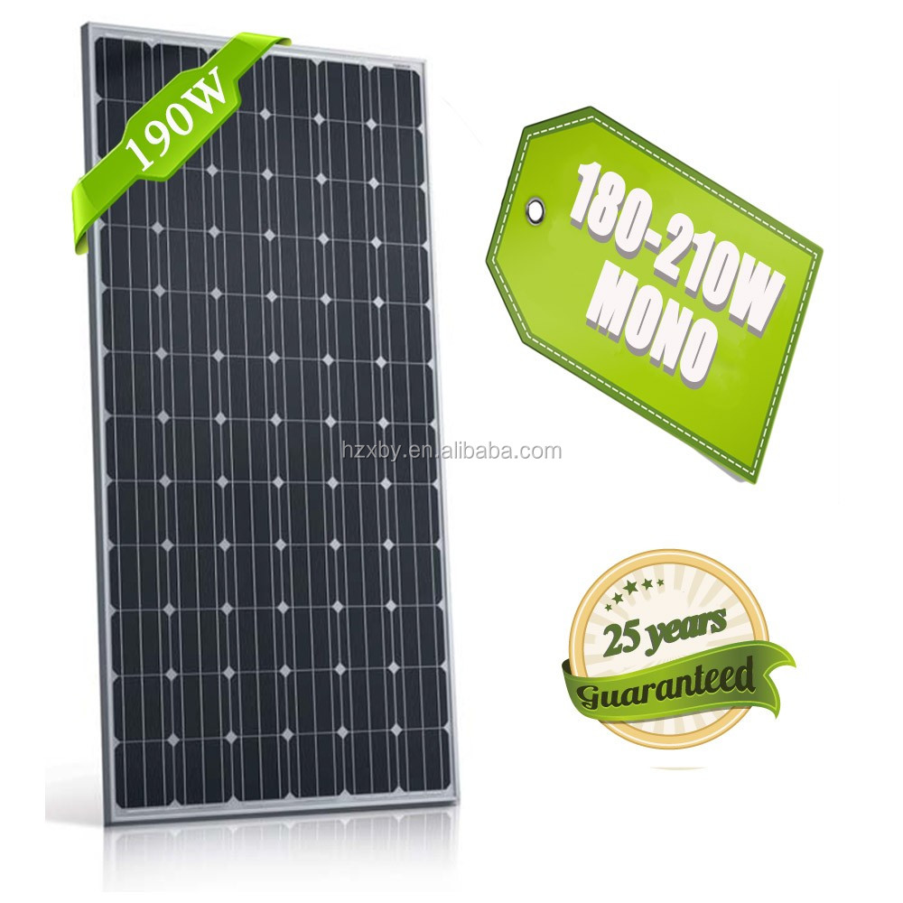 high quality light weight models solar panels pv panels 190w solar model/panel