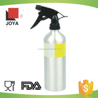 2016 Wholesale logo oem aluminum refillable plastic trigger spray aluminum spray bottle for garden