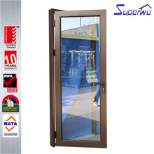 Australian standard AS2047 commercial swing casement doors kitchen with frosted glass