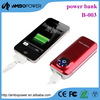 Manufacturer Most fashionable 15000mah Black Portable solar mobile phone charger for iphone 5