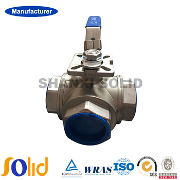 Good Quality WCB Carbon Steel/Cast steel/CF8M Thread 3-Way Motorized Ball Valve