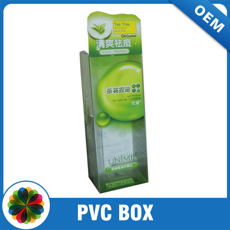 Custom design display plastic clear PVC folded box packaging
