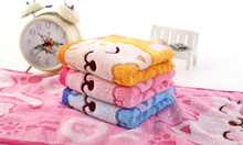 personalized kids printing face towels soft boys girls wash cloth