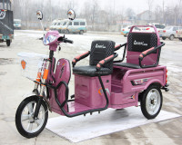 lead acid battery 500W motor folding tricycle with passenger seats