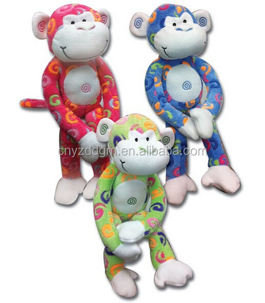 Wholesale Fashionable Cheap soft plush monkey colorful monkey animal toy/Custom high quality and cheap plush monkey toys