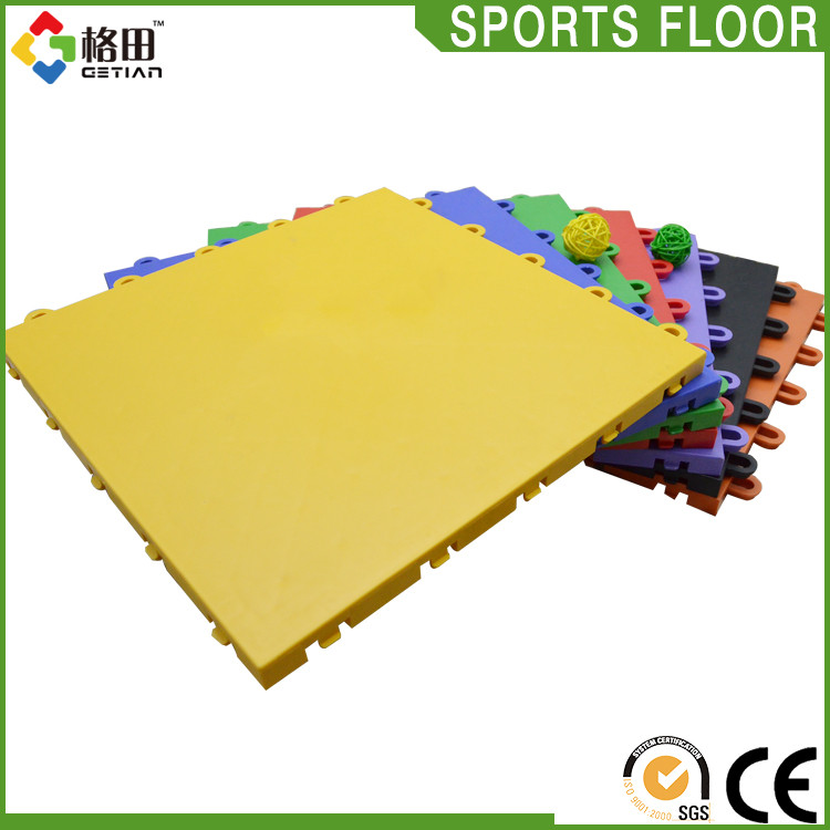 Long life span speckled interlocking gym rubber flooring