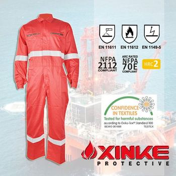 CVC fire resistant garment for welding workman