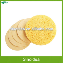 Compressed Natural Cosmetic cellulose sponge, facial cleaning sponge