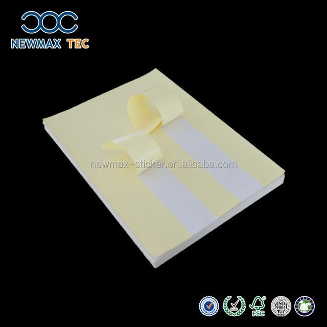 Mirror Cast coated self adhesive label paper with slit release paper