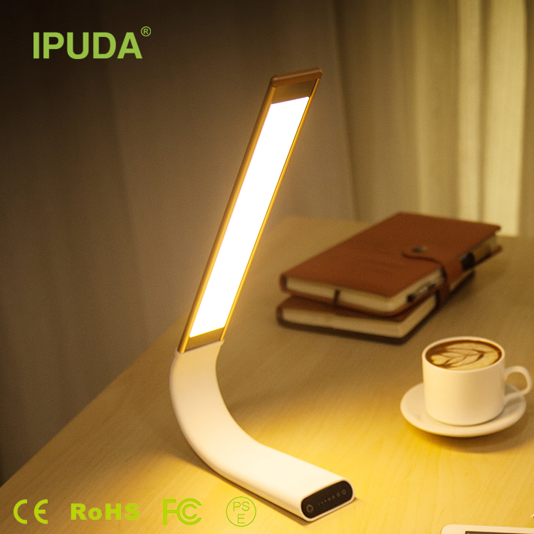 IPUDA Most Popular market Eye Protection LED Desk Lamp 6 Dimmable levels Foldable Portable usb lights