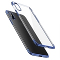 Ultrathin Electroplating Frame TPU Soft Clear Case Skin for iPhone X