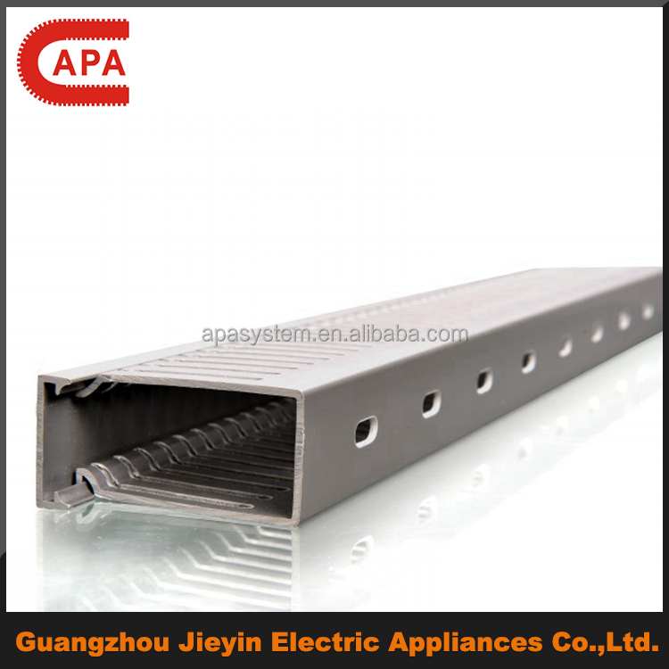 PVC wire cable ducts plastic cable trunking and accessories in Guangzhou