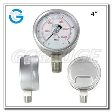 High quality stainless steel brass Internal vibration-proof pressure gauge
