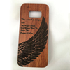 New arrival two parts pure wood phone case for samsung s8, wooden case fit well for samsung S8