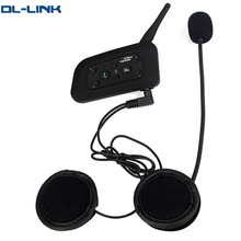 V6 1X 1200M motorcycle helmet audio intercom system for 6 riders