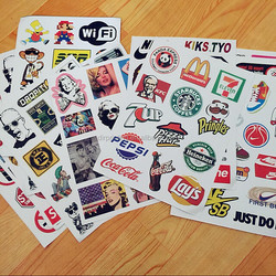 Factory Direct Sale Skateboard Snowboard Vinyl Sticker Bicycle Decal