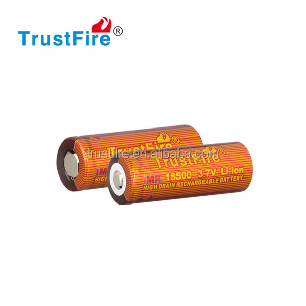 IMR 18500 li-ion battery TrustFire 18500 16.5A battery ecig mod 1100mAh