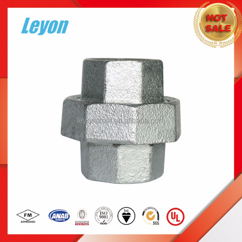 For Joint Connecting Tubes Galvanized Pipe Fitting Union