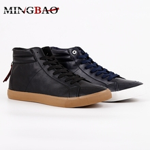 Custom black high top sneakers italy men casual pu shoes