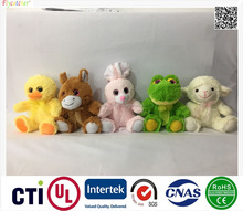 Direct deal High Quality plush toy five styles animal,chicken,cattle,rabbit,frog,sheep