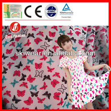 Antistatic Butterfly Print Silk Fabric