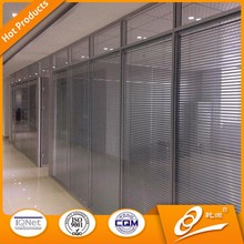 Double glass office partition,transparent glass wall, room divider for office