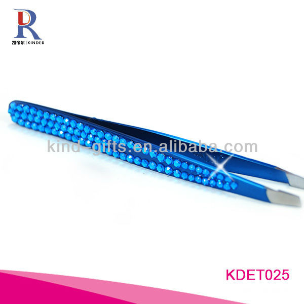 Colorful Rhinestone Straight Tweezers In Beauty And Personal Care