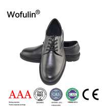 Soft leather men dress shoes/police shoes for men/action leather shoes