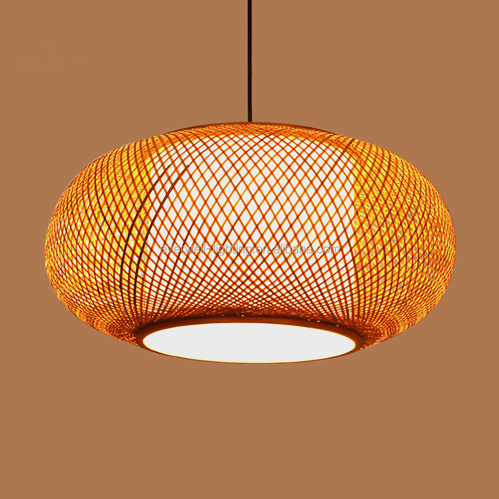 creative design pendant lights Antique simple bamboo suspension hanging chandelier lamp