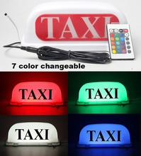 LED Car Auto Dome Roof Cab Magnetic Taxi Hire Light Lamp colorful