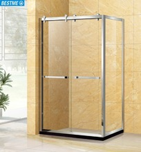 SUS-framed clear tempered glass shower enclosure for Vietnam (A2002)